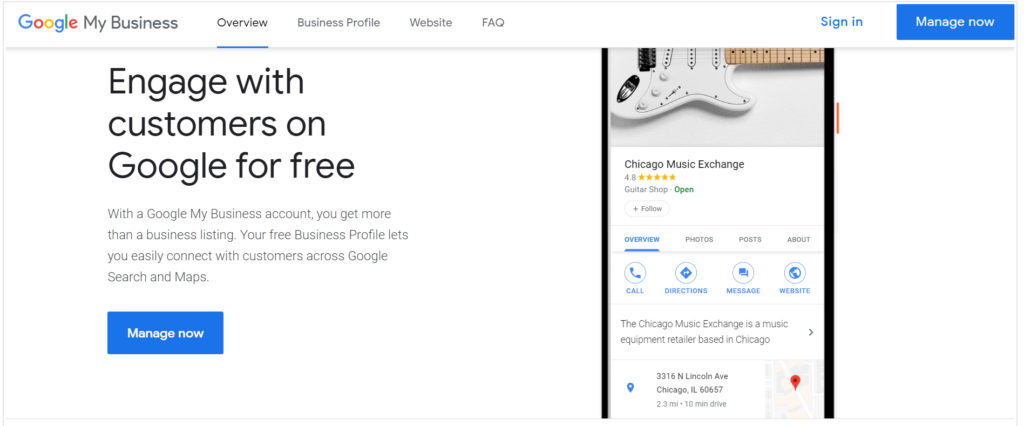 Google My Business Sign In